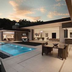 Via: Do you like this pool? Do you like this open window house concept? - Architecture and Home Decor - Bedroom - Bathroom - Kitchen And Living Room Interior Design Decorating Ideas - Millionaire Homes, Modern House Design, Exterior Design, Future House, Modern Architecture, Home Fashion, Luxury Homes, Luxury Life, House Plans