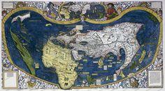 Waldseemüller's Weltkarte (1507) - Alte Karten & Globen