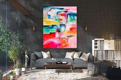 Items similar to Large Modern Wall Art Painting,Large Abstract wall art,painting colorful,xl abstract painting,canvas wall art on Etsy Large Abstract Wall Art, Large Canvas Art, Large Painting, Texture Painting, Canvas Wall Art, Painting Canvas, Texture Art, Gold Canvas, Canvas Canvas