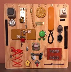 Sensory Board, busy Board, Montessori educational toy, activity Board, CUBUS The busy Board is both a great developmental tool and in engaging fun toy for children ages 6 months to 3 years. Watch your little one play for hours while learning about the world around them. The product is ready