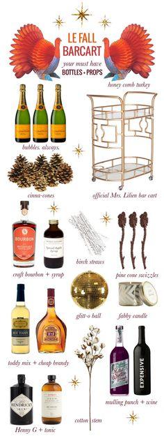 The Fall Bar Cart via Mrs. Lilien