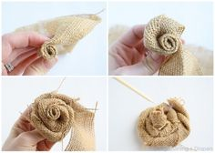 Burlap Bouquet Tutorial by Design, Dining + Diapers