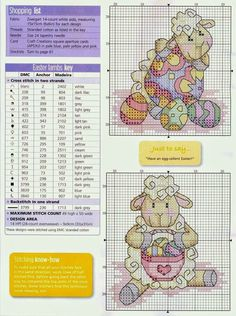 ♥ My point Graphs Cruz ♥: lambs to embroider in cross stitch