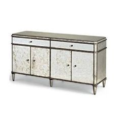 Check out the Currey and Company 4208 Antiqued Mirror Credenza
