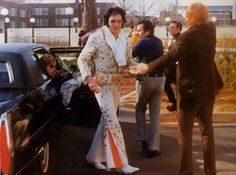 March 9, 1974 Elvis getting of his limo in Charlotte, NC