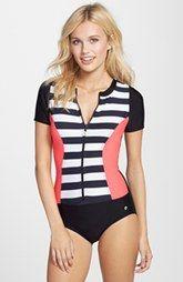 NEXT 'Malibu' Front Zip One-Piece Swimsuit