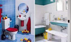 Decoración para niños. Un espacio de tu hogar que puedes transformar con creativas ideas para los más pequeños, es el cuarto de baño. Muchas veces no les gusta lavarse los dientes, darse un baño de tina, o tienen temor debido a que quizás lo encuentran un tanto frío. Hoy en día, existen ideas muy entretenidas que harán que tus hijos amen este sector de la casa, alcanzando además una mayor independencia al sentirse cómodos e identificados.