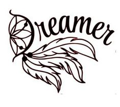 Dream Catcher Vinyl Decal, Dreamer Vinyl decal, wall decal, feather vinyl decal - approx. 4.5x6 inch