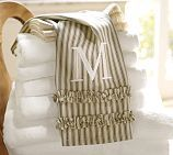Ruffled Ticking Stripe Guest Towels, Set of Black/Almond traditional-towels Farmhouse Kitchen Curtains, Farmhouse Sink Kitchen, Country Farmhouse Decor, Country Charm, French Country, Farmhouse Style, Farmhouse Bathrooms, Country Bathrooms, French Farmhouse