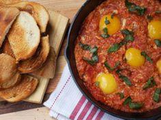 Tomatoes & Eggs On Toast