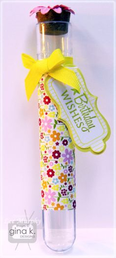 A Beautiful Project by Lee Murphy  A treat tube for a little girl's party,
