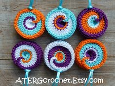 Spiral crochet ornament set by ATERGcrochet ready by ATERGcrochet