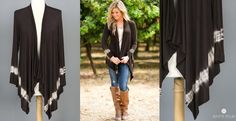 Will live in this outfit in the fall...  Urban Draped Cardigan  Made in USA - jane.com
