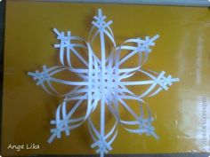 Soon the New Year, so I offer you another option of manufacturing beautiful snowflakes. The site is similar, but still different from mine. 7 photos