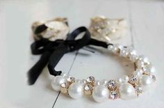 Romantic diamond and pearl necklace