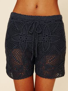 Free People Crochet Board Shorts .... #crochet_inspiration GB