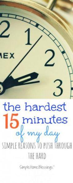 the hardest 15 minut
