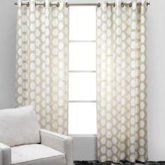 Ankara Panels - Sand from Z Gallerie. Bedroom window treatments.