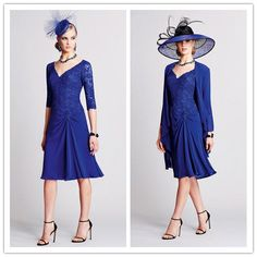 Lace Half Sleeve Mother Of The Bride Dress with Jacket Chiffon Party Dress Gowns #MatchingOutfit