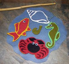 Cool felt fishing game. The link is for class registration, but I might just try and do this on my own! Studio Kids:  Felt Fishing Game (July 11)