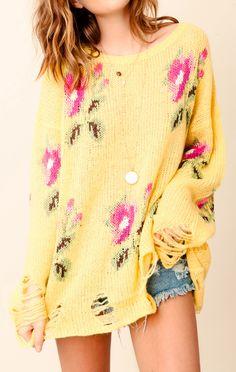 WILDFOX Lennon Sweater Little Edie