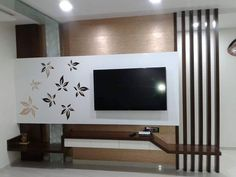 Modern TV wall units for living rooms - Wooden TV cabinets designs 2020 Lcd Panel Design, Modern Tv Wall Units, Wall Unit Designs, Living Room Partition Design, Tv Room Design, Lcd Wall Design, Living Room Design Modern, Living Room Tv Unit Designs, Wall Design