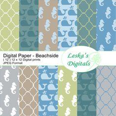 #digitalprint #digitalscrapbooking #summerpatterns  Summer pattern digital scrapbooking collection available via instant download