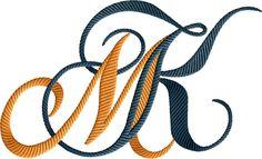 KM Monogram 1 Fancy Letters, Floral Letters, Monogram Letters, Tattoo Lettering Fonts, Lettering Styles, Lettering Design, Embroidery Monogram, Embroidery Designs, Photography Logo Hd