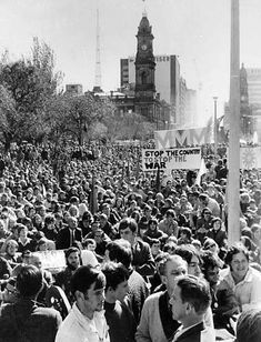 An anti-Vietnam War demonstration in Victoria Square, Adelaide, [National Library of Australia American War, American History, Woodstock Hippies, First Indochina War, Daddy Go, Vietnam War Photos, Pop Culture News, North Vietnam, Korean War