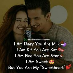 Here you will find the best love status which you can post on whatsapp. Get here the most amazing whatsapp status which you can share with your partner. Cute Love Quotes, Love Quotes For Her, Love Quotes For Girlfriend, Love Picture Quotes, Love Smile Quotes, Love Husband Quotes, Beautiful Love Quotes, Crazy Girl Quotes, Love Quotes With Images