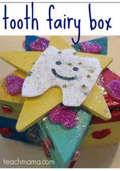 homemade tooth fairy box | diy crafts with kids | tooth fairy #weteach