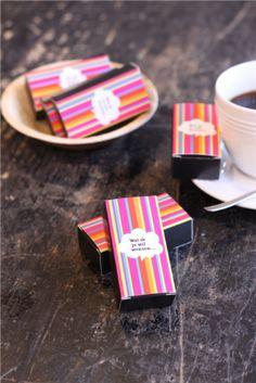Het Mini Wensdoosje, ook ideaal als give-away tijdens een beurs. #chocolade