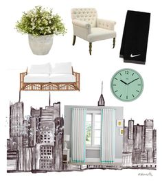 Untitled #16 by hannah-s-b on Polyvore featuring polyvore, interior, interiors, interior design, casa, home decor, interior decorating, Serena & Lily, NIKE and PBteen