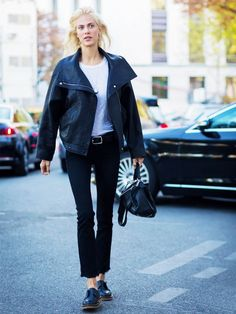 The perfect length for cropped flare jeans is right above the ankle.