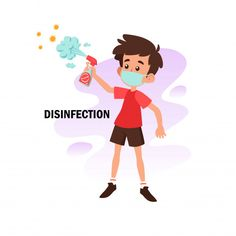 Flat Illustration Of Character Doing Desinfection For Prevention From Corona Virus Ios Design, Dashboard Design, User Experience Design, Customer Experience, Flat Illustration, Map Illustrations, 100 Day Challenge, Gifted Education, Cartoon Pics