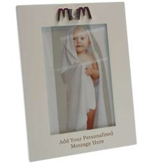 Personalised Mum Photo Frame in White