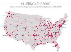 Map Of Active Serial Killers DANGER BETWEEN THE LINES MANUAL - Map of serial killers are active in the us