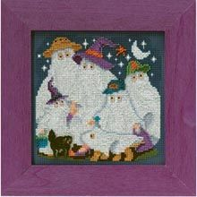 Ghost Family Beaded & Counted Cross-Stitch Kit - Herrschners