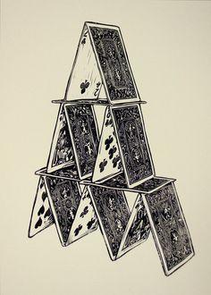 cards linocut