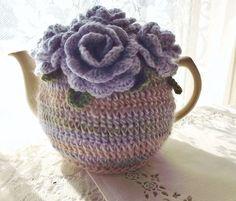 Lilac Rose Tea Cozy by SunshineCottage on Etsy ♡