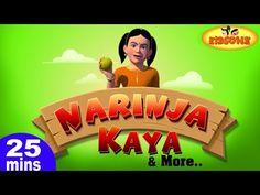 Narinja Kaya & More Telugu Nursery 3D Rhymes   25 Minutes Compilation fr...