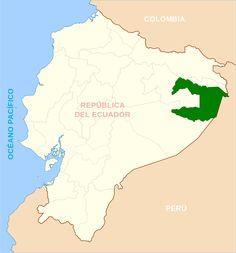 Ubicación del Parque Nacional Yasuní en la Amazonía ecuatoriana. Mapa tomado de: http://smmercury.com/2013/10/04/texas-state-researchers-ask-ecuador-to-save-yasuni/