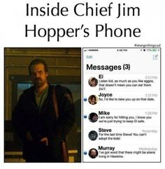 Memes Stranger Things - 6 - - Read 6 from the story Memes Stranger Things by (TheSilentScream) with 813 reads. Stranger Things Quote, Stranger Things Characters, Stranger Things Have Happened, Stranger Things Netflix, Prince Charmant, Stranger Danger, Super Funny, Funny Texts, Really Funny Memes