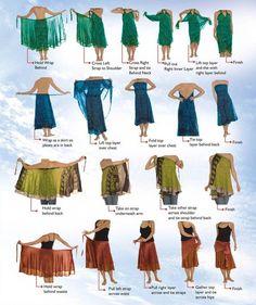 Silk Sari Wrap Skirts: Plus, Regular, Short, Little Girl Sizes