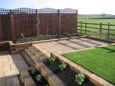 Nice raised beds and steps