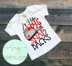 I Like Boys With Snap Backs Shirts for Girls by VYCustomBoutique
