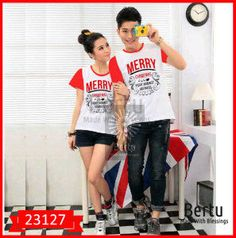 Fashion Baju Couple Natal Merry Christmas Terlaris