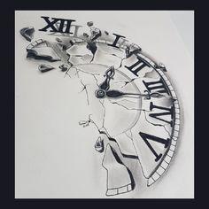55 ideas for tattoo compass clock time heals 55 ideas for tattoo compass clock time healsYou can find Clock tattoos and more on our ideas for tatto. Time Clock Tattoo, Broken Clock Tattoo, Time Piece Tattoo, Clock Tattoos, Watch Tattoos, Time Tattoos, Body Art Tattoos, New Tattoos, Sleeve Tattoos