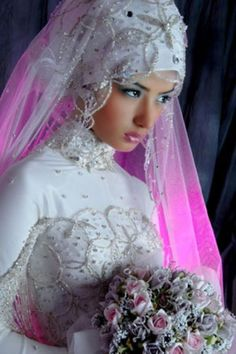 58 Ideas For Asian Bridal Hijab Etsy Bridal Hijab Styles, Hijab Wedding Dresses, Bridal Style, Bridal Gowns, Wedding Gowns, Wedding Dressses, Wedding Veil, Bridal Outfits, Gold Wedding