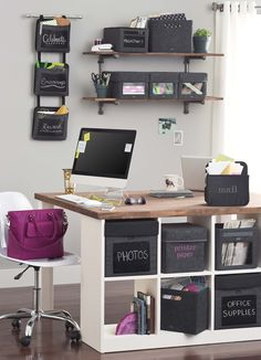 Home office organization! Thirty-One's cubes and Oh-Snap pockets to keep your home office organized. Now available with CHALK panels! Thirty One Uses, Thirty One Fall, Thirty One Party, Thirty One Gifts, 31 Gifts, Diy Organisation, Thirty One Organization, Home Office Organization, Organized Office